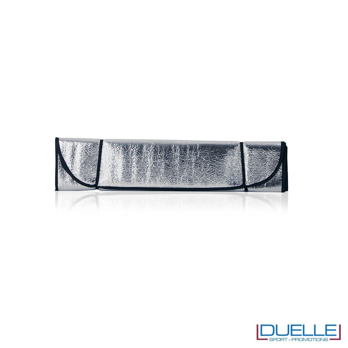 Parasole personalizzato per auto colore grigio, gadget estate personalizzabili colore grigio