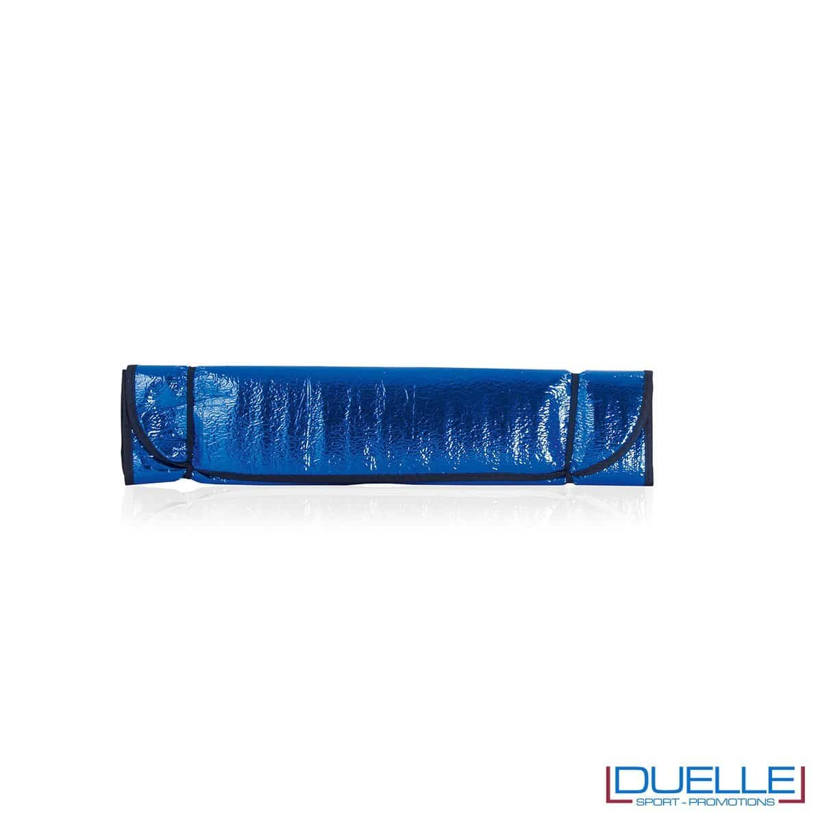 Parasole personalizzato per auto colore blu, gadget estate personalizzabili colore blu