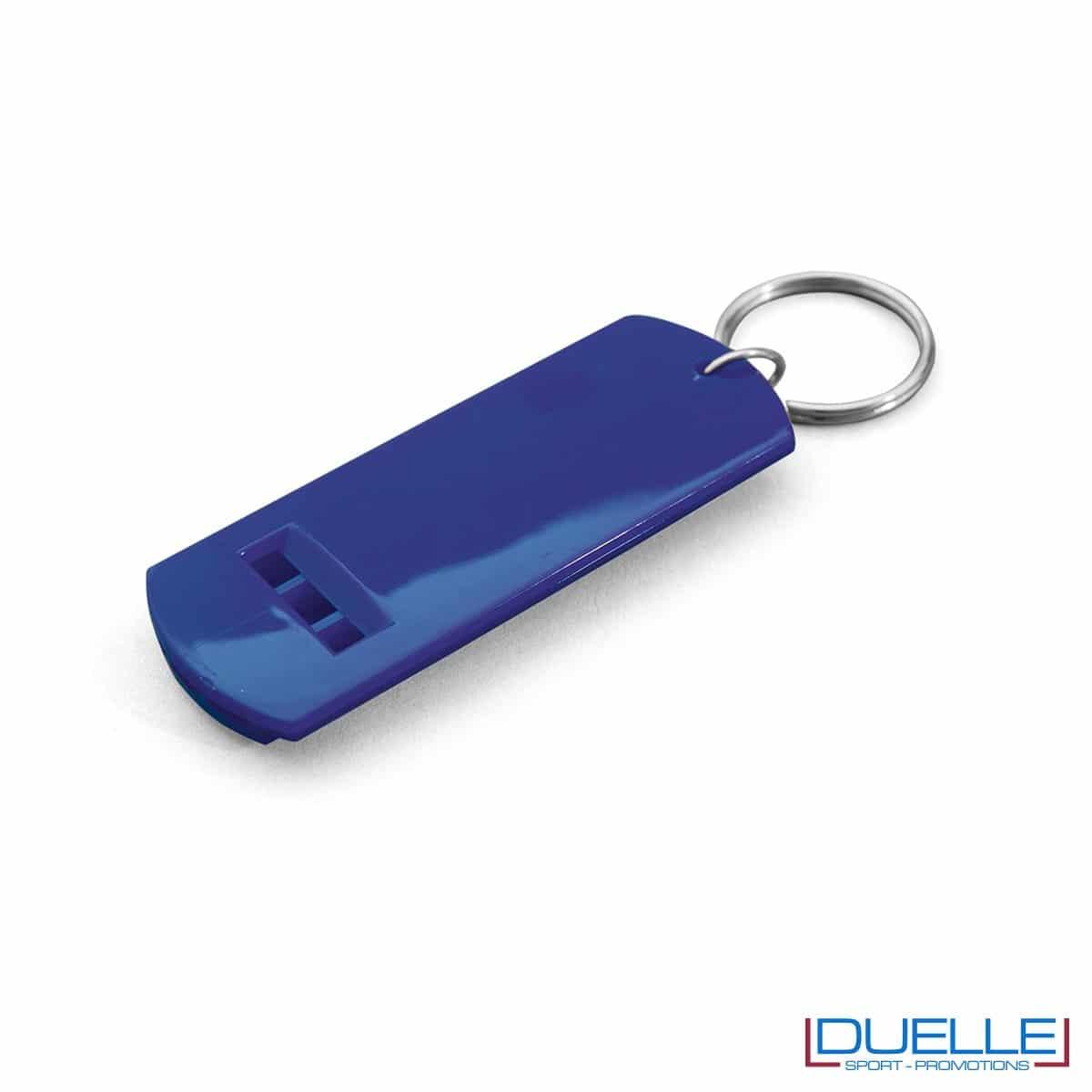 fischietto personalizzato portachiavi colore blu, gadget tifo, gadget portachiavi, gadget personalizzato