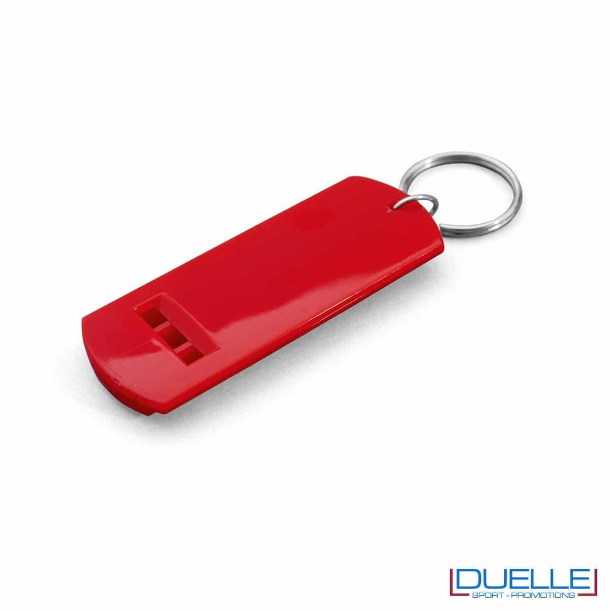 fischietto personalizzato portachiavi colore rosso, gadget tifo, gadget portachiavi, gadget personalizzato