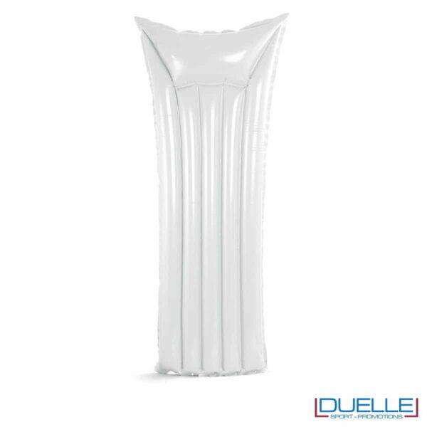 materassino personalizzato gonfiabile in colore bianco, materassini personalizzabili bianchi per il mare