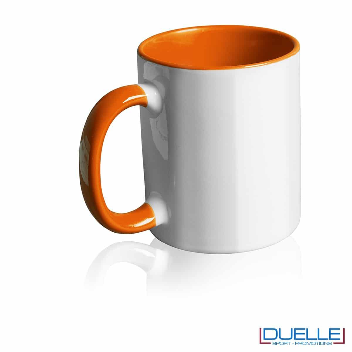 Tazza personalizzata promozionale in ceramica con interni arancione