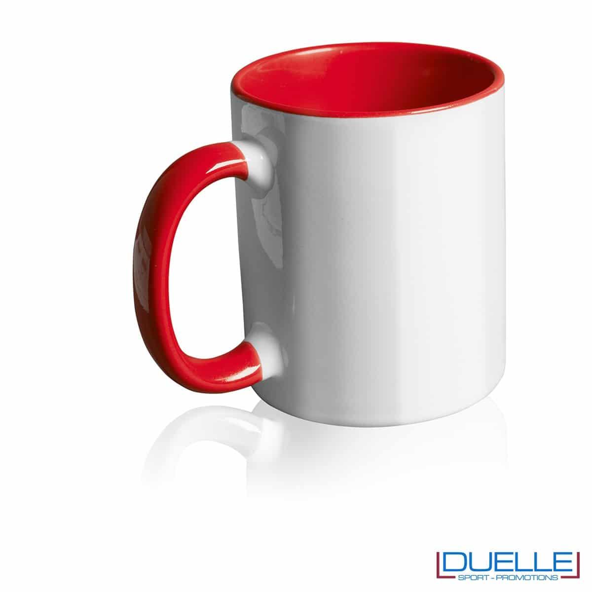 Tazza personalizzata promozionale in ceramica con interni rosso
