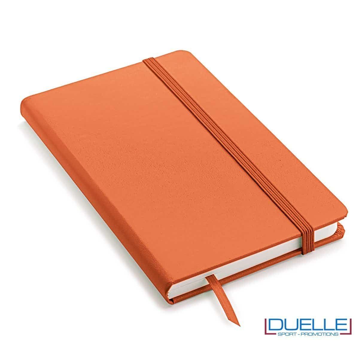 Quaderno appunti personalizzabile tipo moleskine A5 colore arancione
