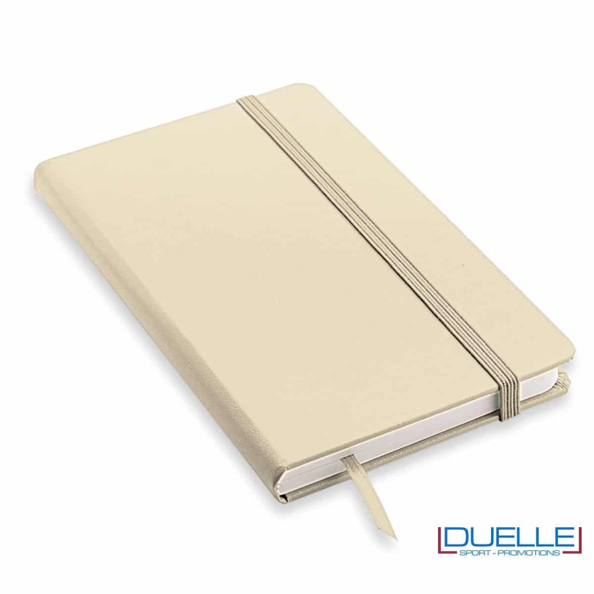 Quaderno appunti personalizzabile tipo moleskine A5 beige