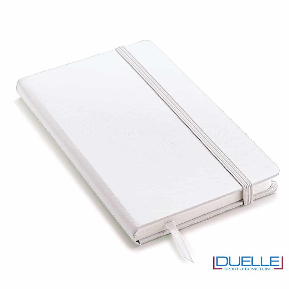 Quaderno appunti personalizzabile tipo moleskine A5 bianco