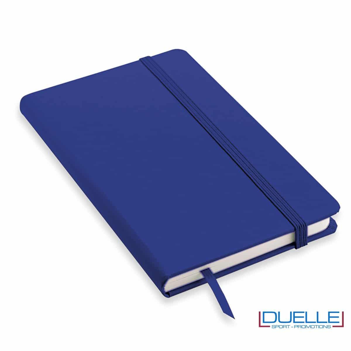 Quaderno appunti personalizzabile tipo moleskine A5 blu royal