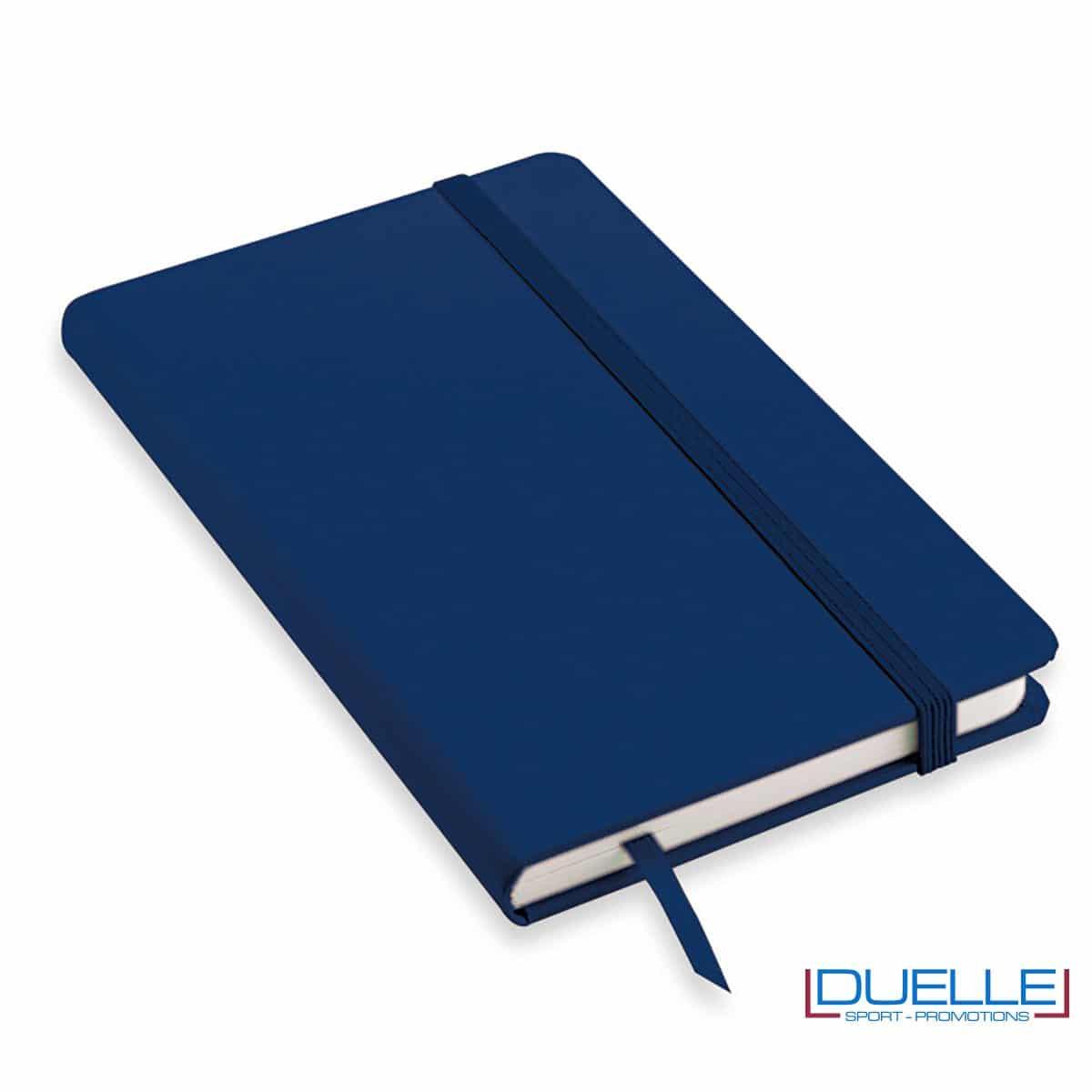 Quaderno appunti personalizzabile tipo moleskine A5 colore blu navy