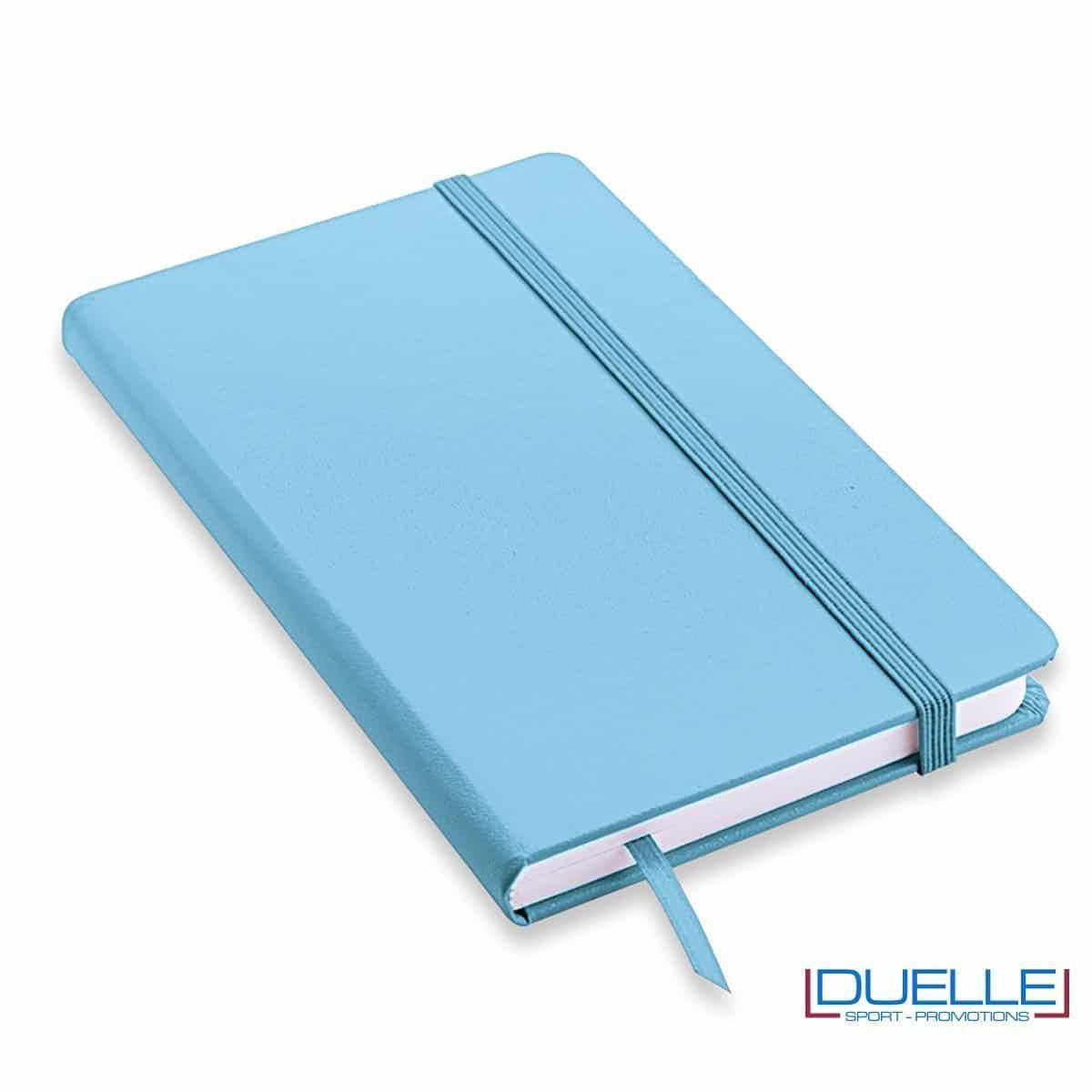 Quaderno appunti personalizzabile tipo moleskine A5 colore celeste