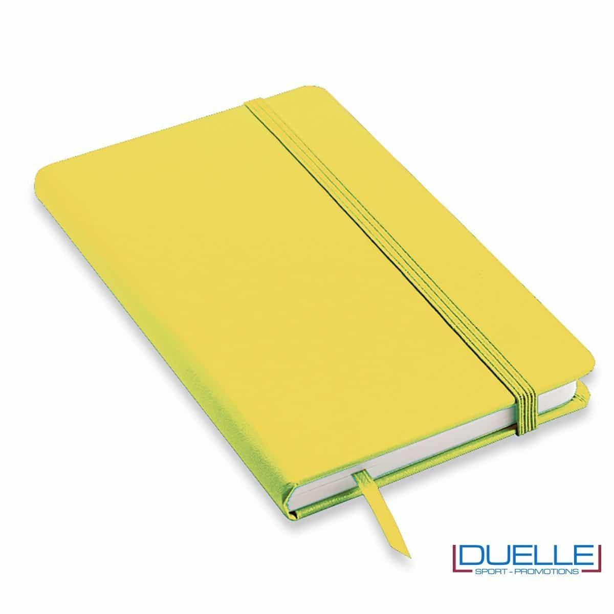 Quaderno appunti personalizzabile tipo moleskine A5 colore giallo
