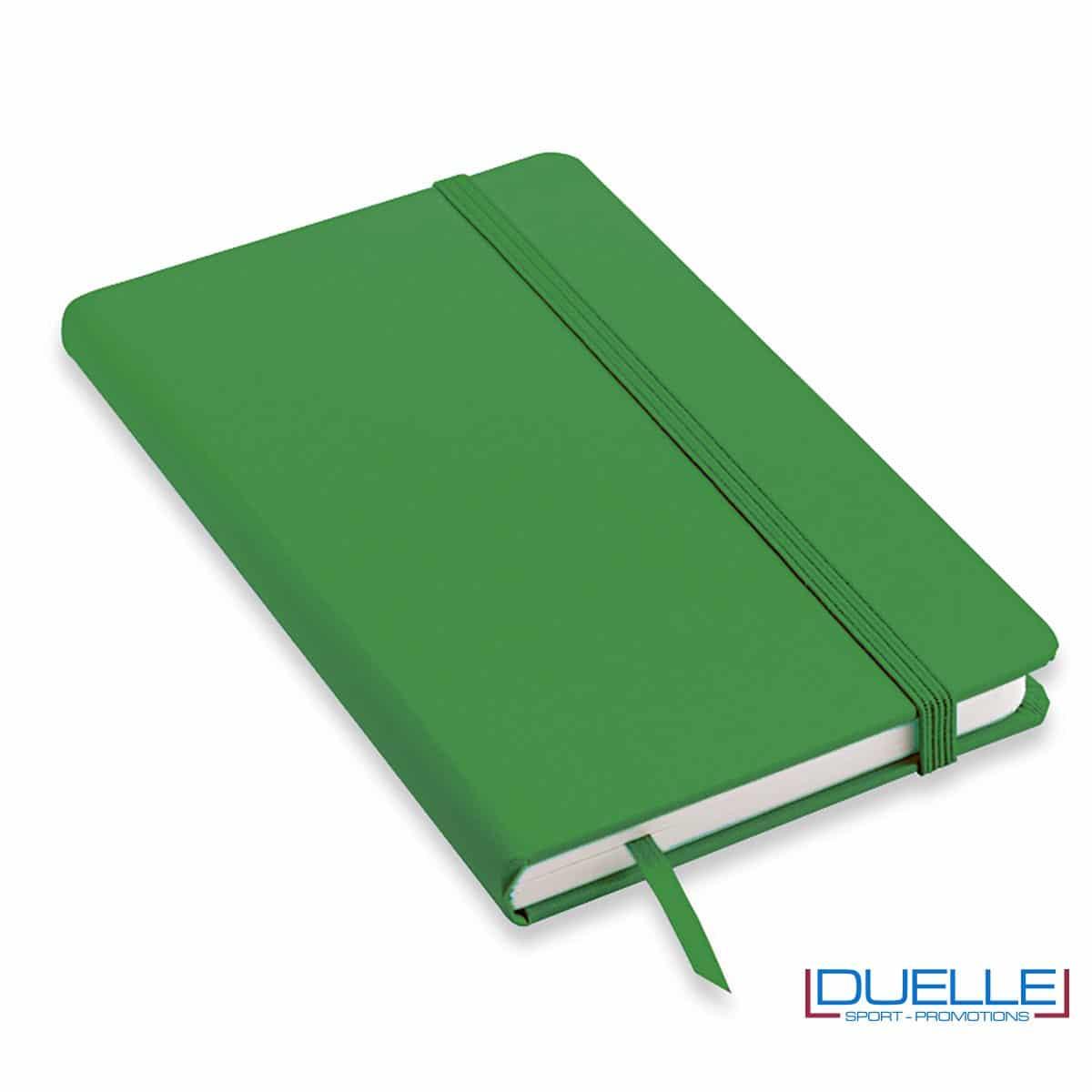 Quaderno appunti personalizzabile tipo moleskine A5 verde
