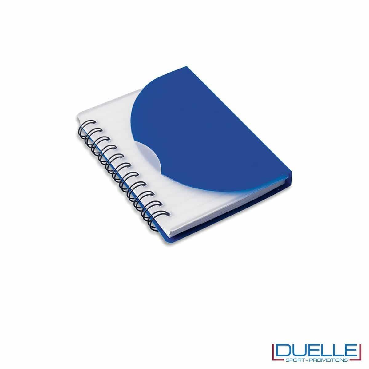 Quaderno personalizzato in plastica traslucida blu navy