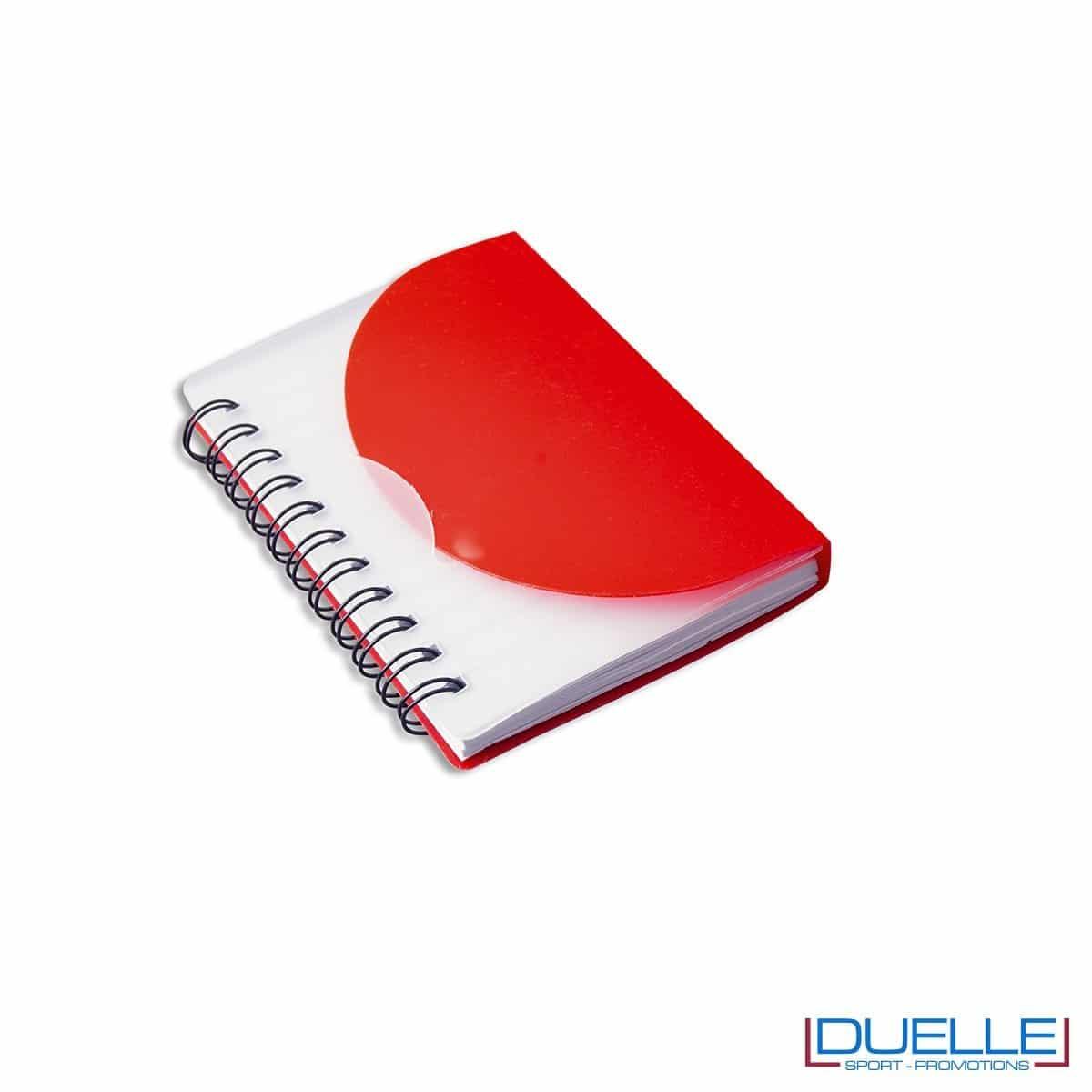 Quaderno personalizzato in plastica traslucida rosso