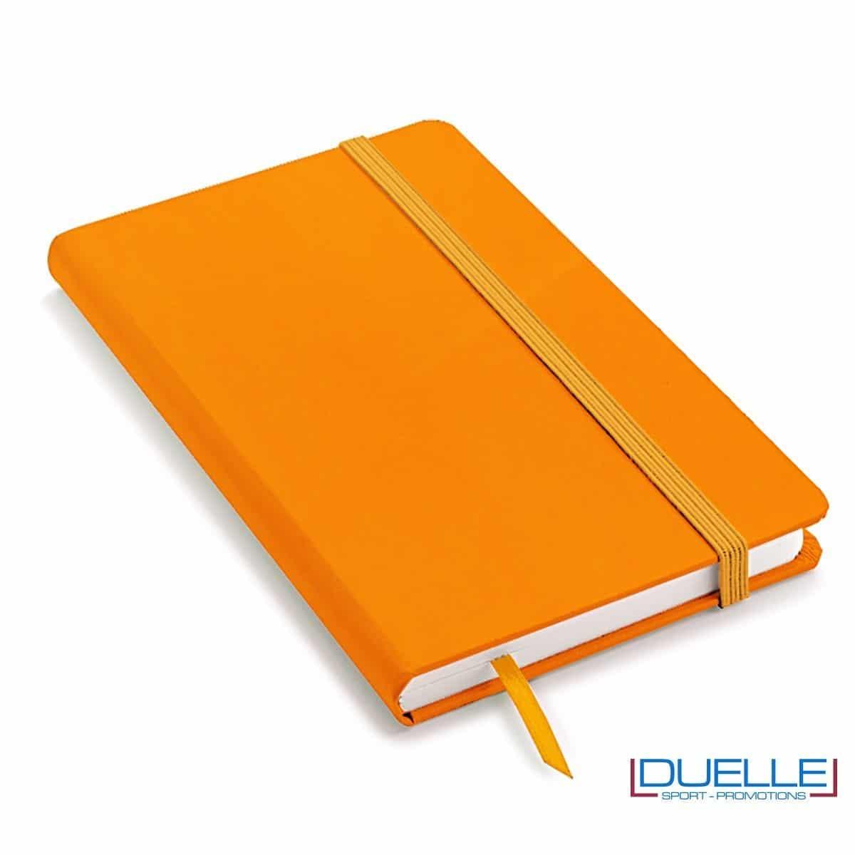Quaderno appunti personalizzabile tipo moleskine A6 arancione fluo