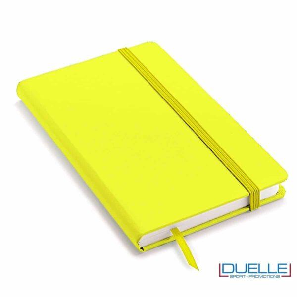 Quaderno appunti personalizzabile tipo moleskine A6 giallo fluo