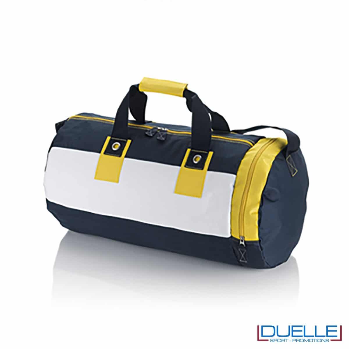 borsa promozionale, borsa mare personalizzabile gialla tessuto 600D