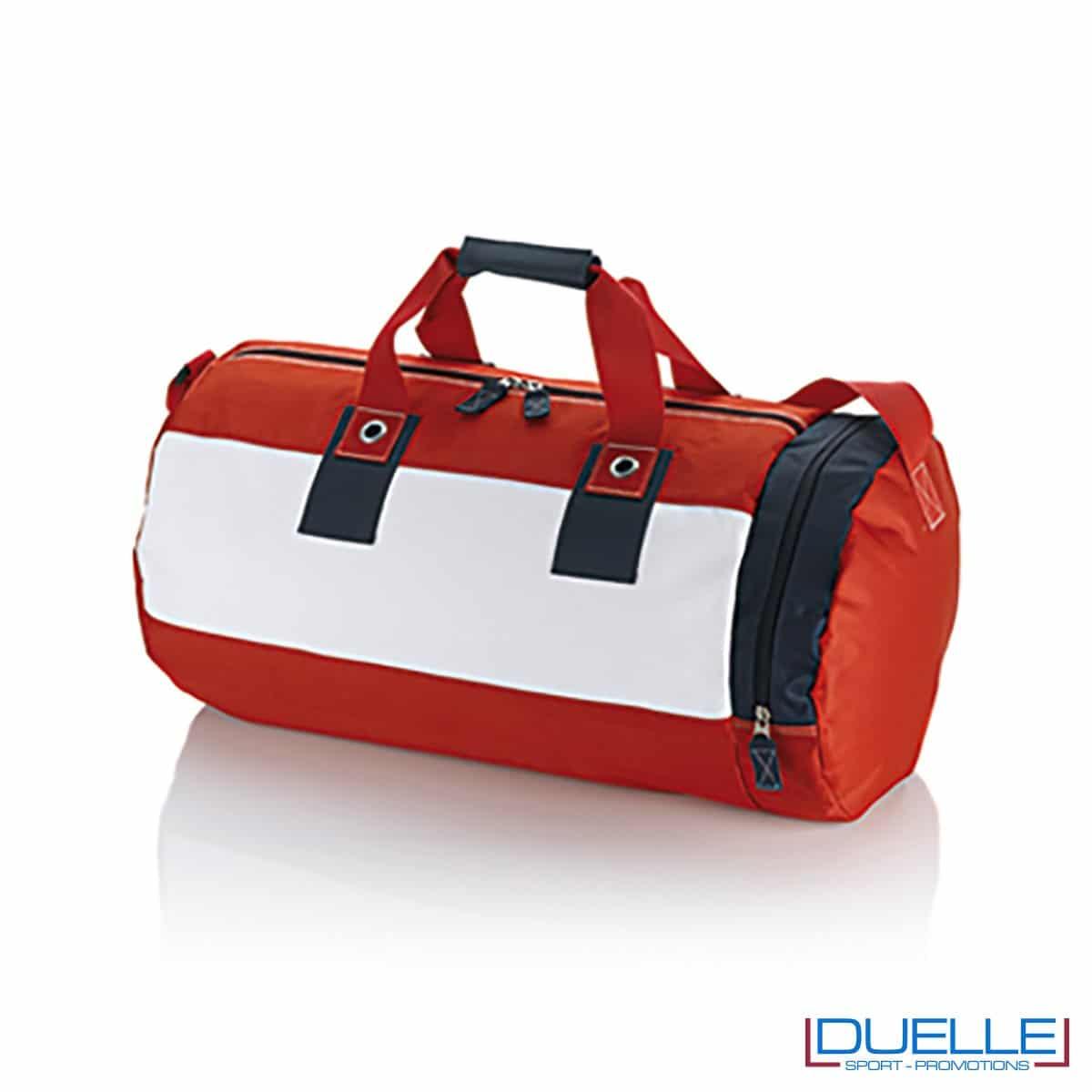 borsa promozionale estate, borsa mare personalizzabile rossa in tessuto 600D