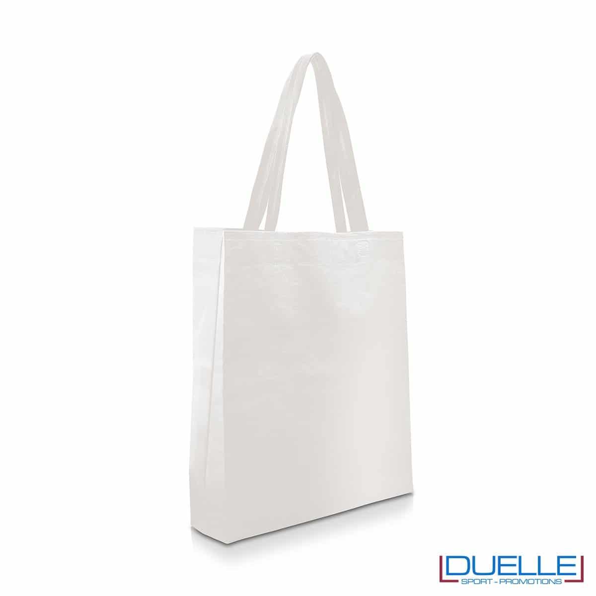 Shopper personalizzabile in TNT colore bianco