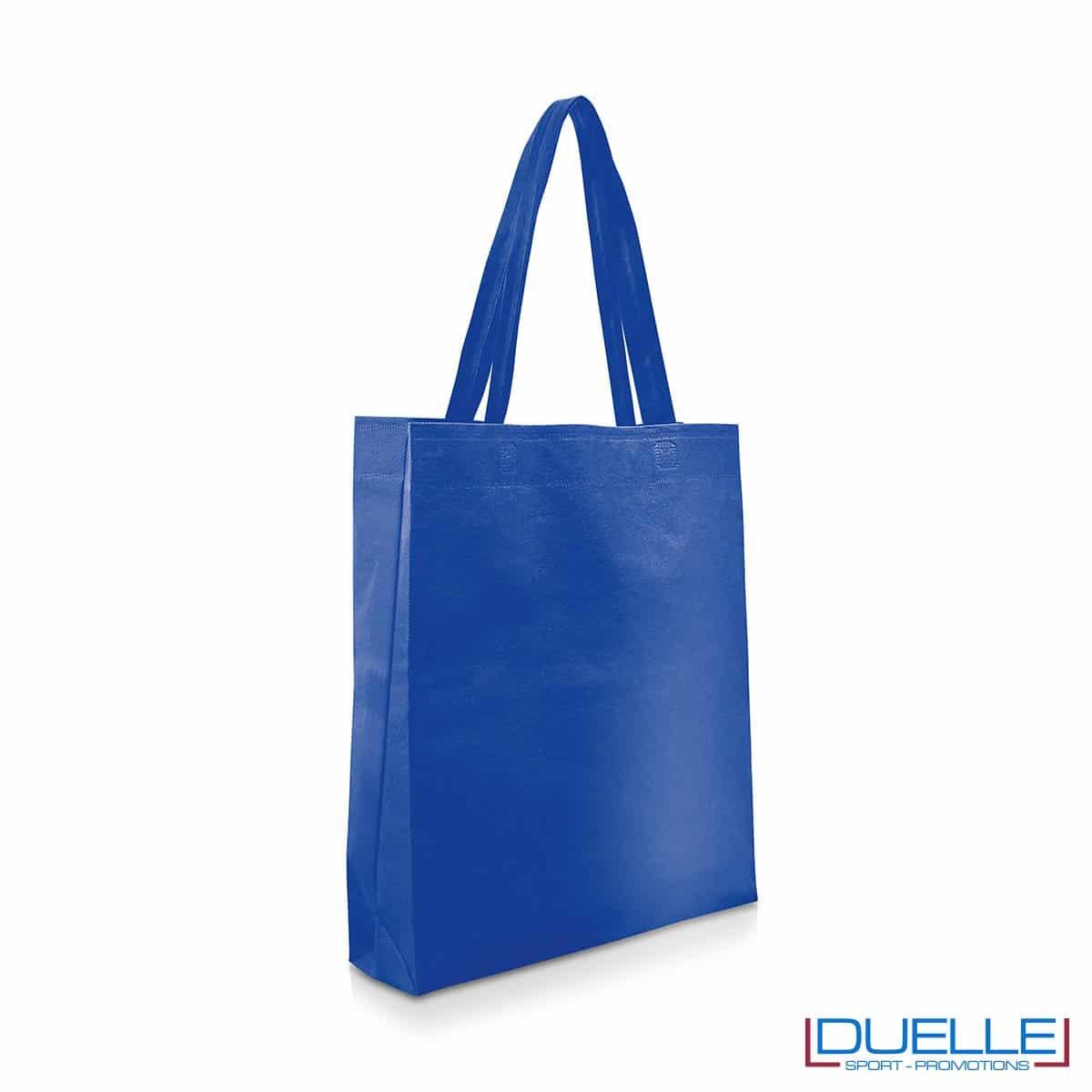 Shopper personalizzabile in TNT colore blu royal