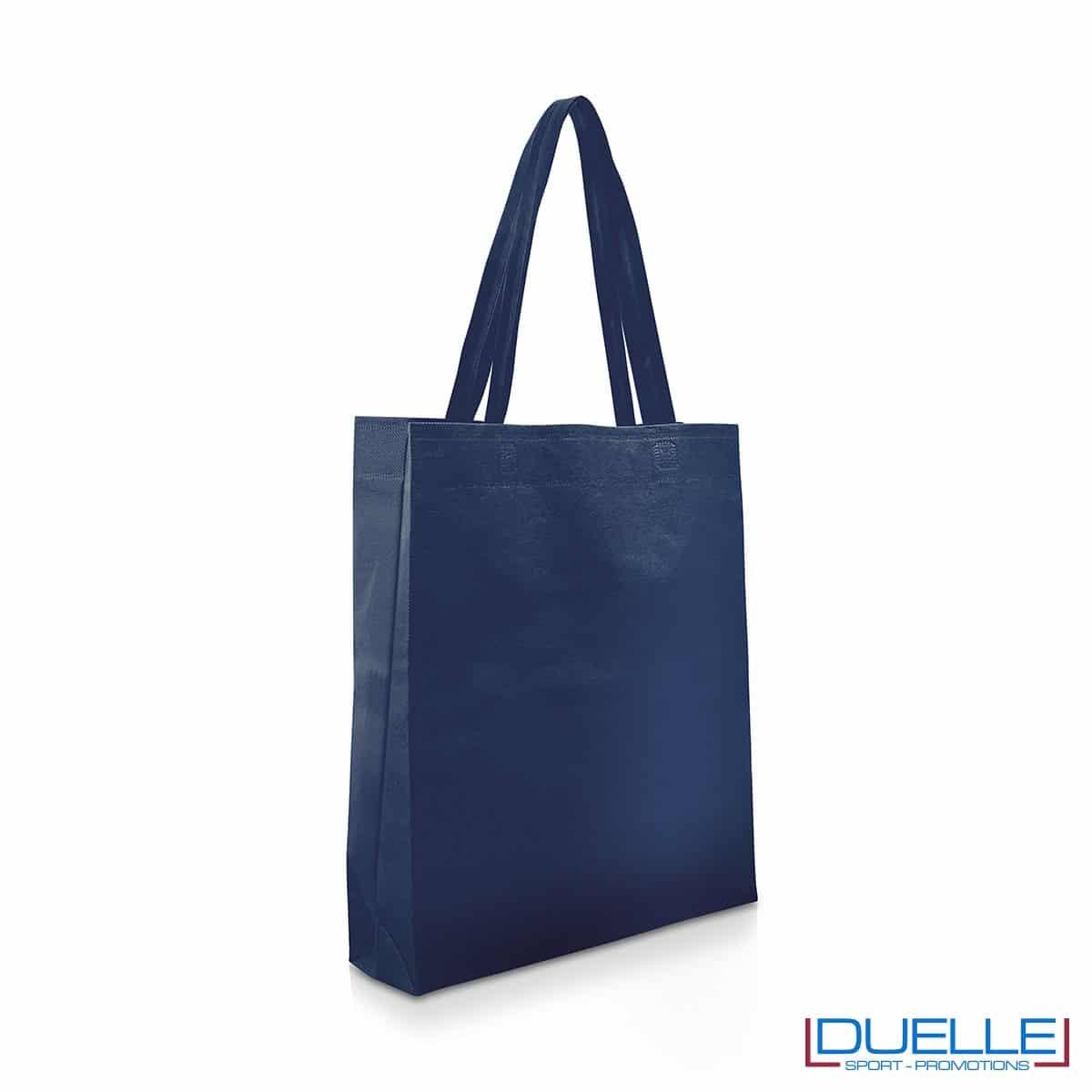 Shopper personalizzabile in TNT colore blu navy