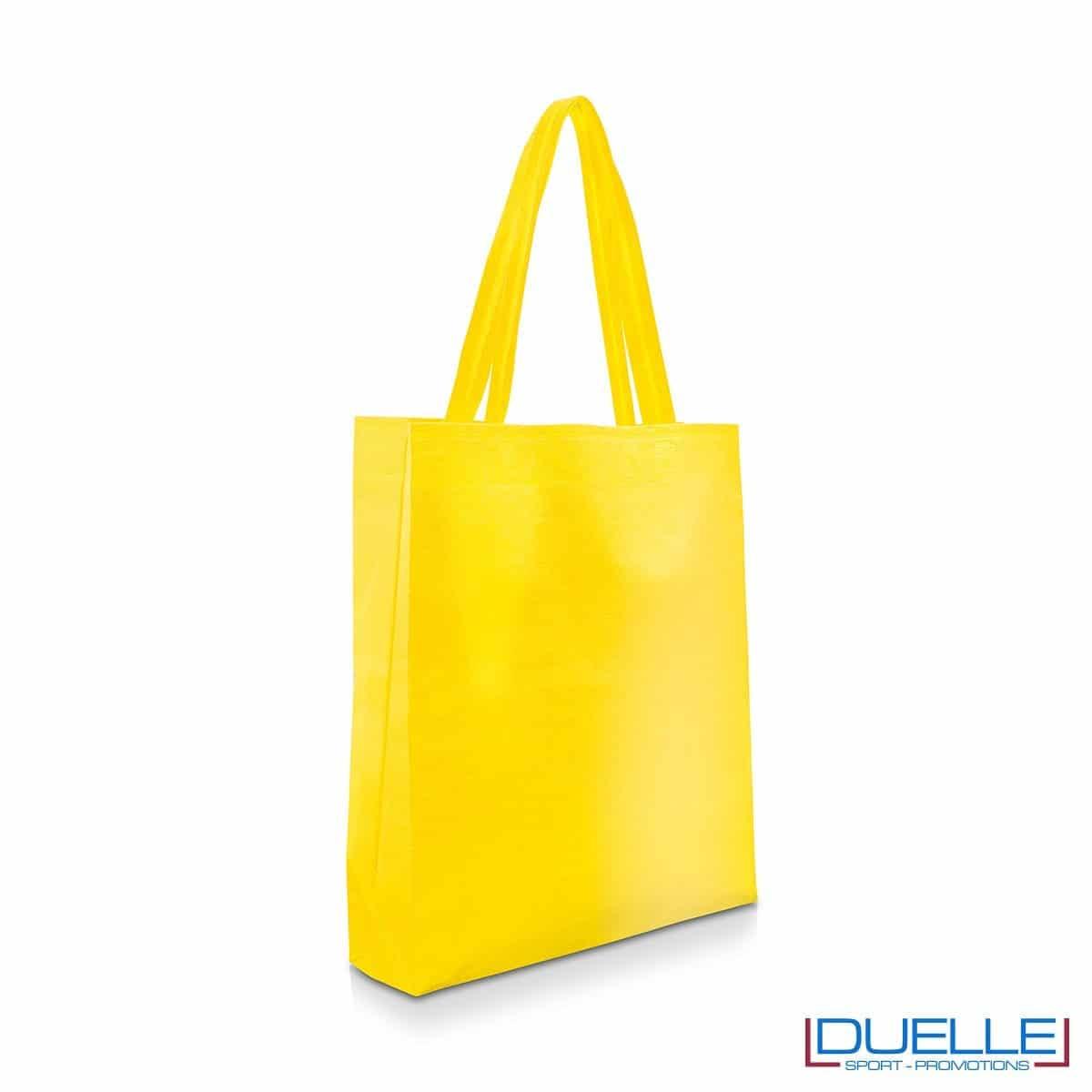 Shopper personalizzabile in TNT colore giallo