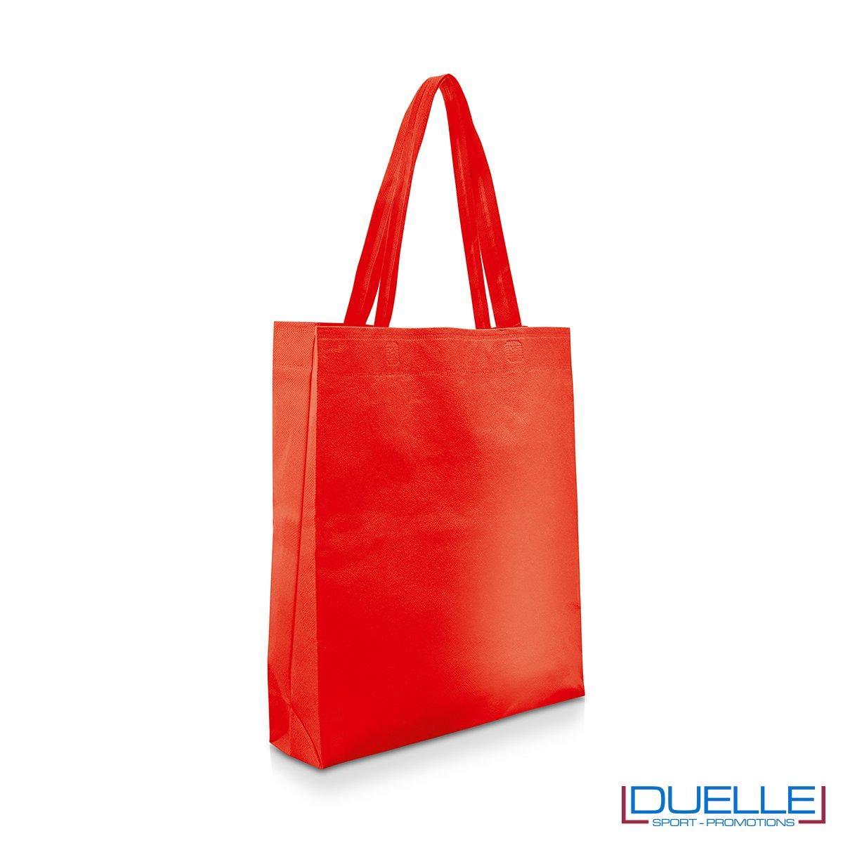 Shopper personalizzabile in TNT colore rosso