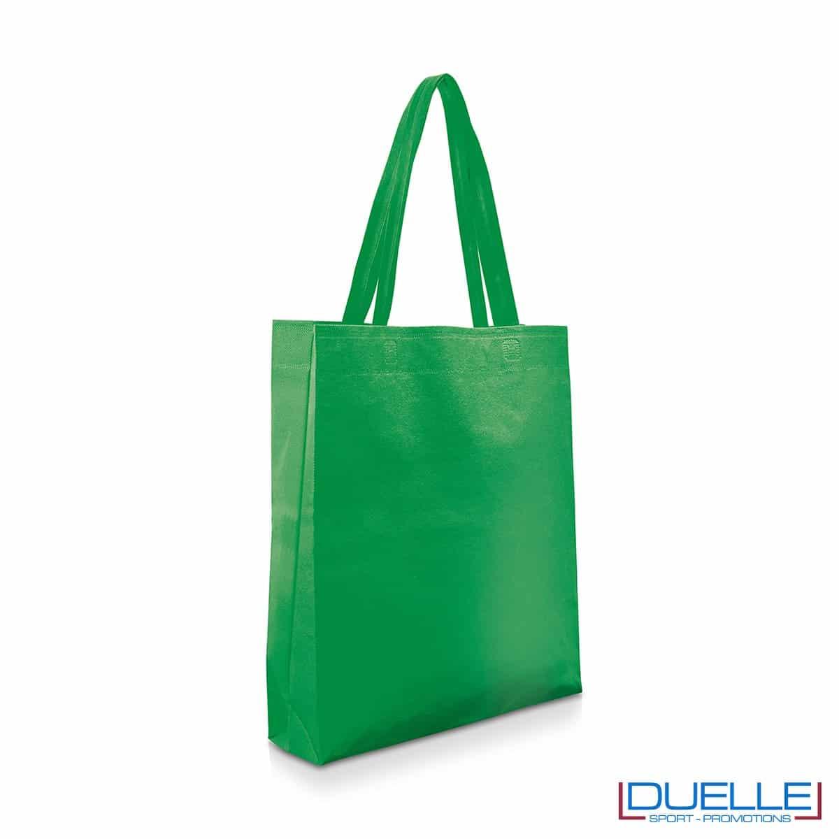 Shopper personalizzabile in TNT colore verde scuro