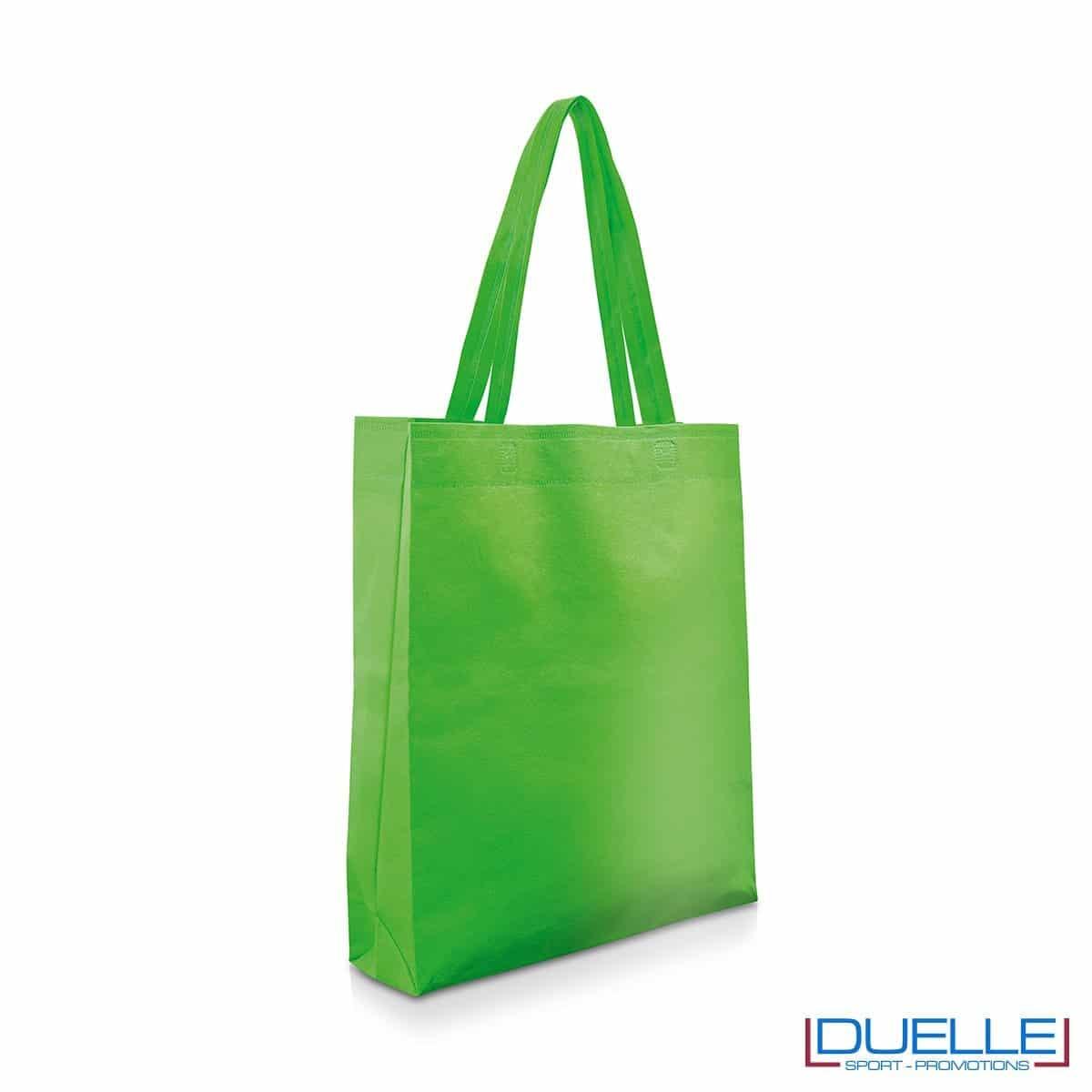 Shopper personalizzabile in TNT colore verde prato