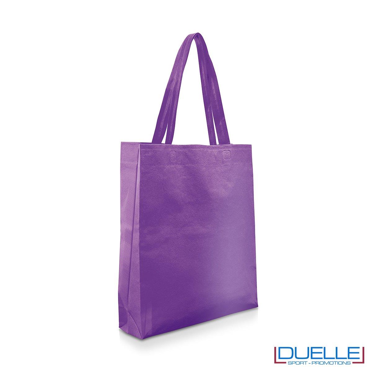 Shopper personalizzabile in TNT colore viola