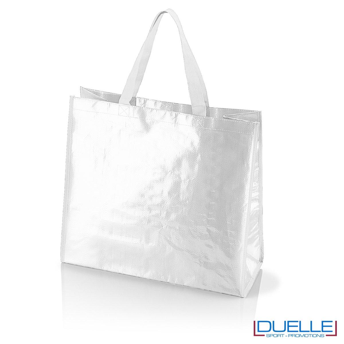 Shopper personalizzata il polipropilene bianca