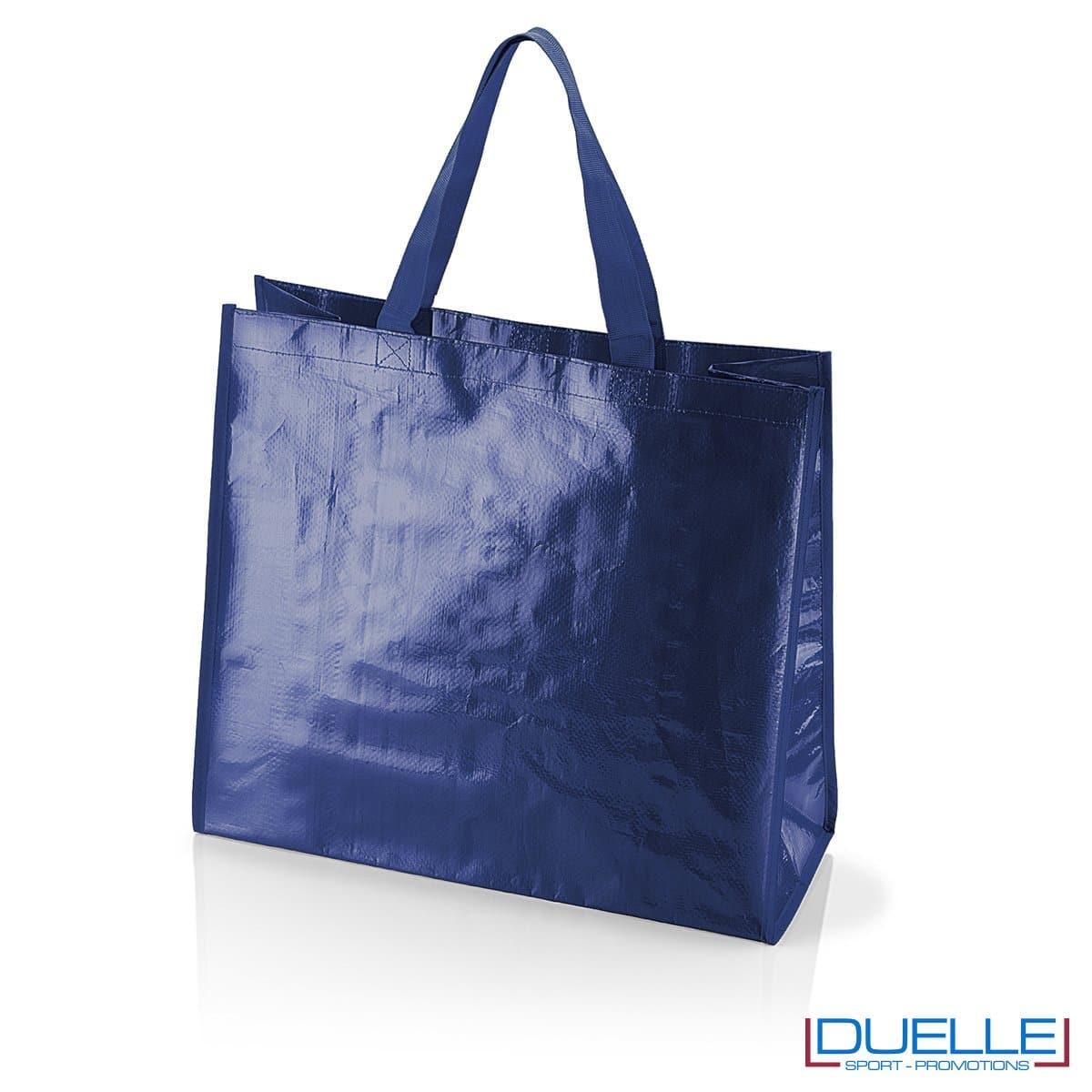 Shopper personalizzata il polipropilene blu