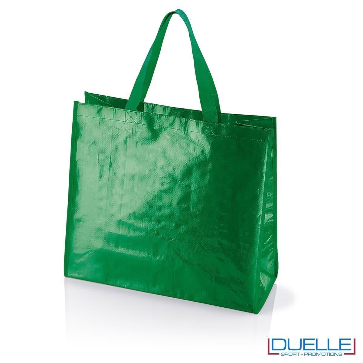 Shopper personalizzata il polipropilene verde