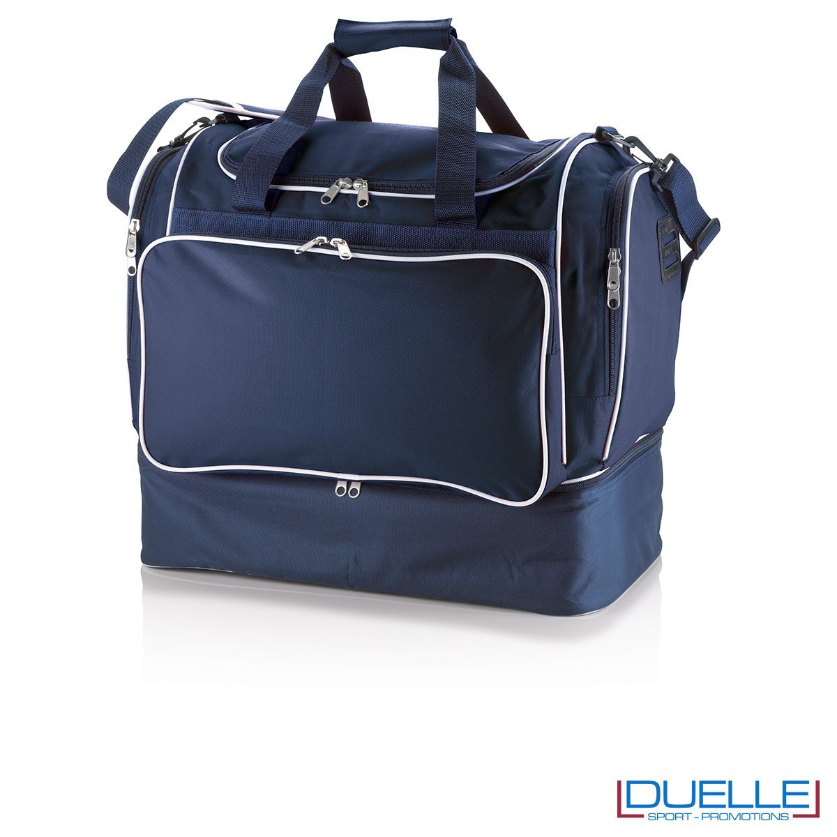 borsone calcio personalizzato colore blu navy, borsoni calcio promozionali personalizzabili blu navy