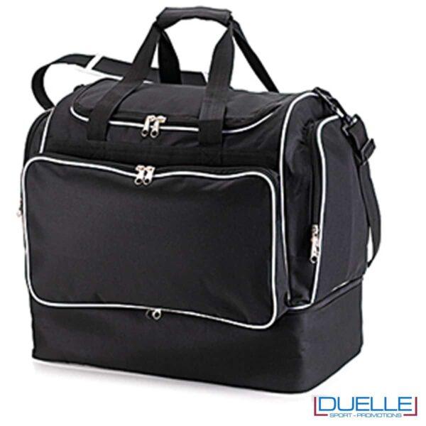 borsone calcio personalizzato colore nero, borsoni calcio promozionali personalizzabili neri