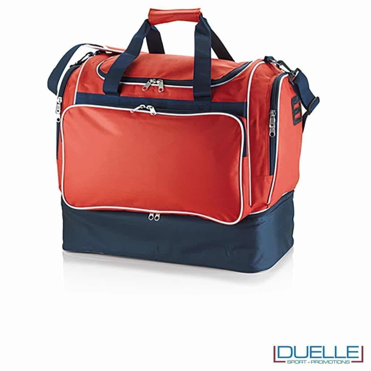 borsone calcio personalizzato colore rosso, borsoni calcio promozionali personalizzabili rossi