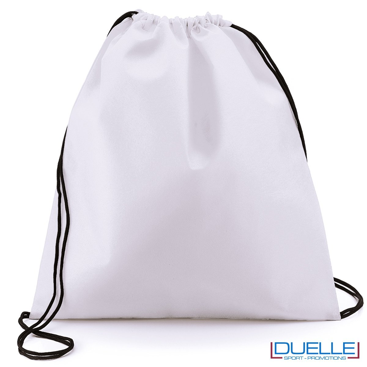 zainetto sportivo personalizzato in tnt di colore bianco, gadget sportivi personalizzati