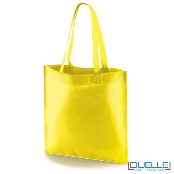 borsa shooper personalizzata in tnt termosaldato giallo, offerta borse promozionali in tnt economiche gialle