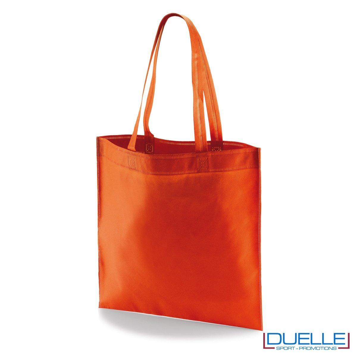 borsa shooper personalizzata in tnt termosaldato rosso, offerta borse promozionali in tnt economiche rosse