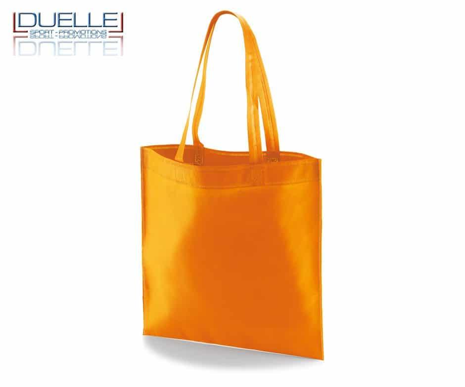 borsa shooper personalizzata in tnt termosaldato arancione, offerta borse promozionali in tnt economiche arancioni