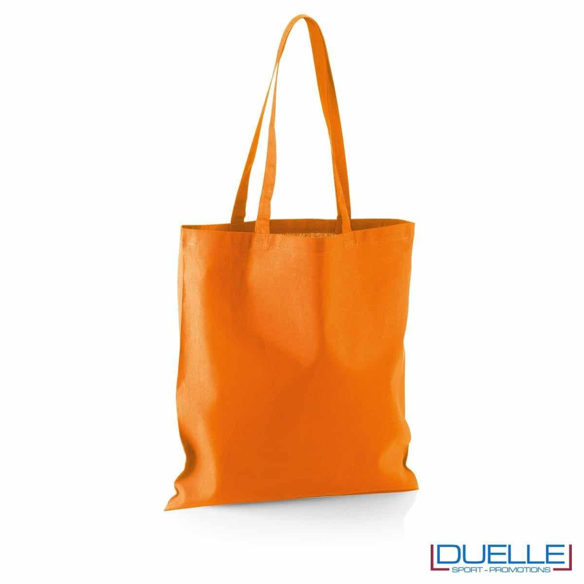 Shopper personalizzata in puro cotone arancione