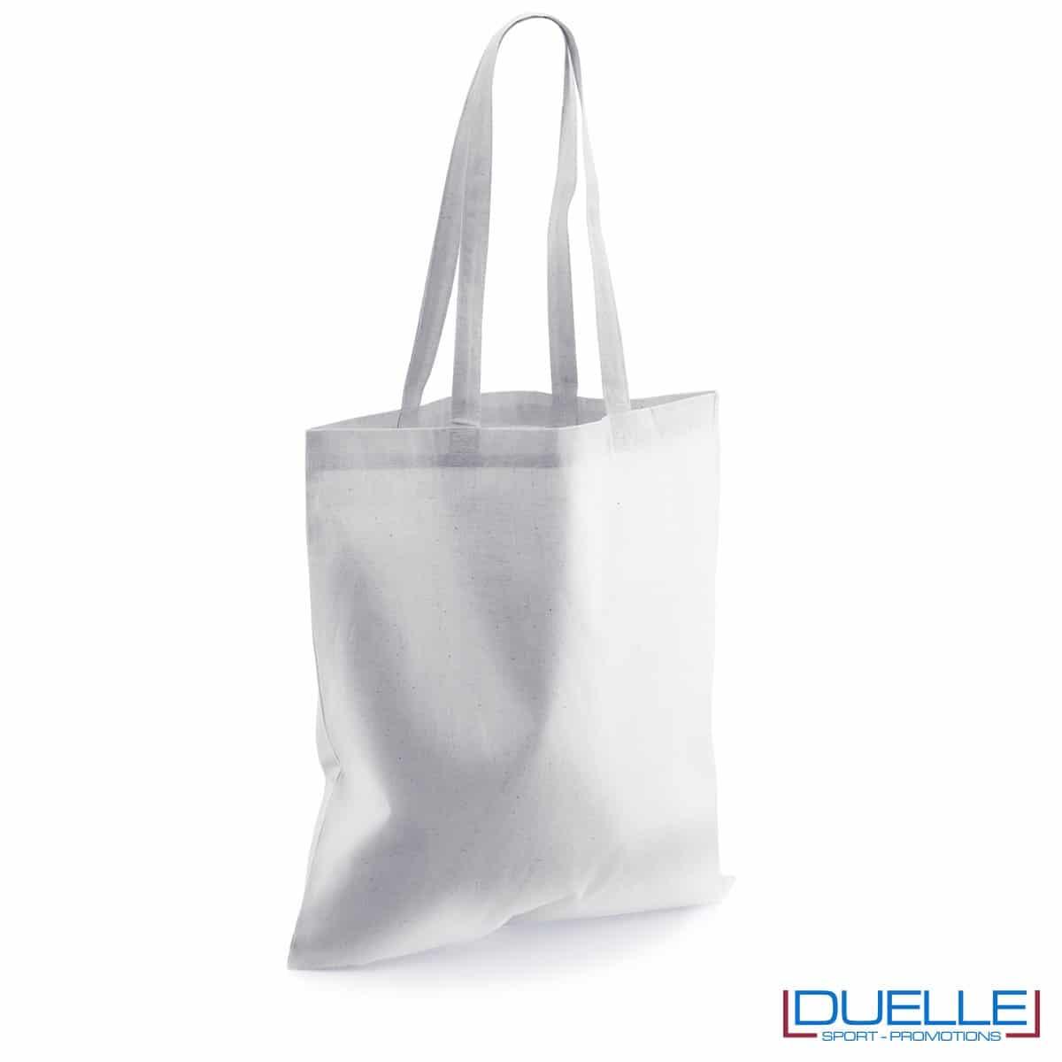 Shopper personalizzata in puro cotone bianca