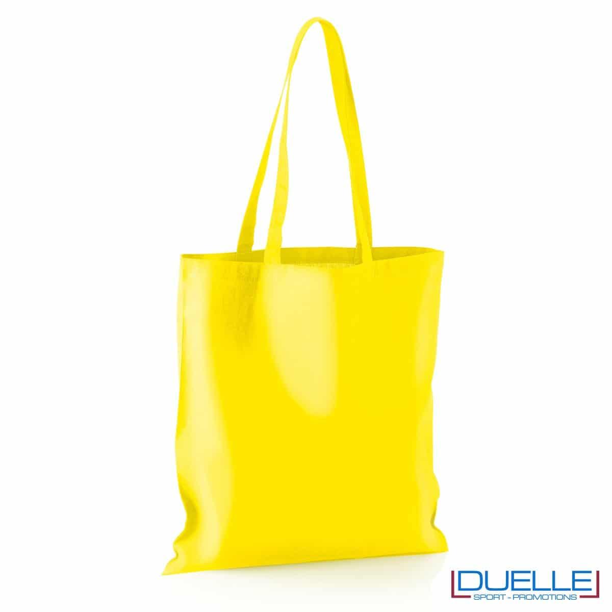 Shopper personalizzata in puro cotone giallo