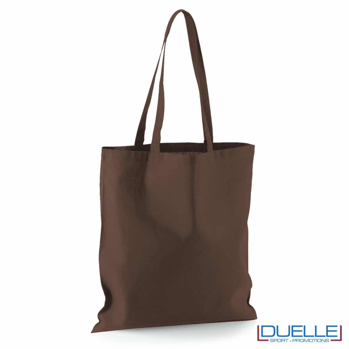 Shopper personalizzata in puro cotone marrone