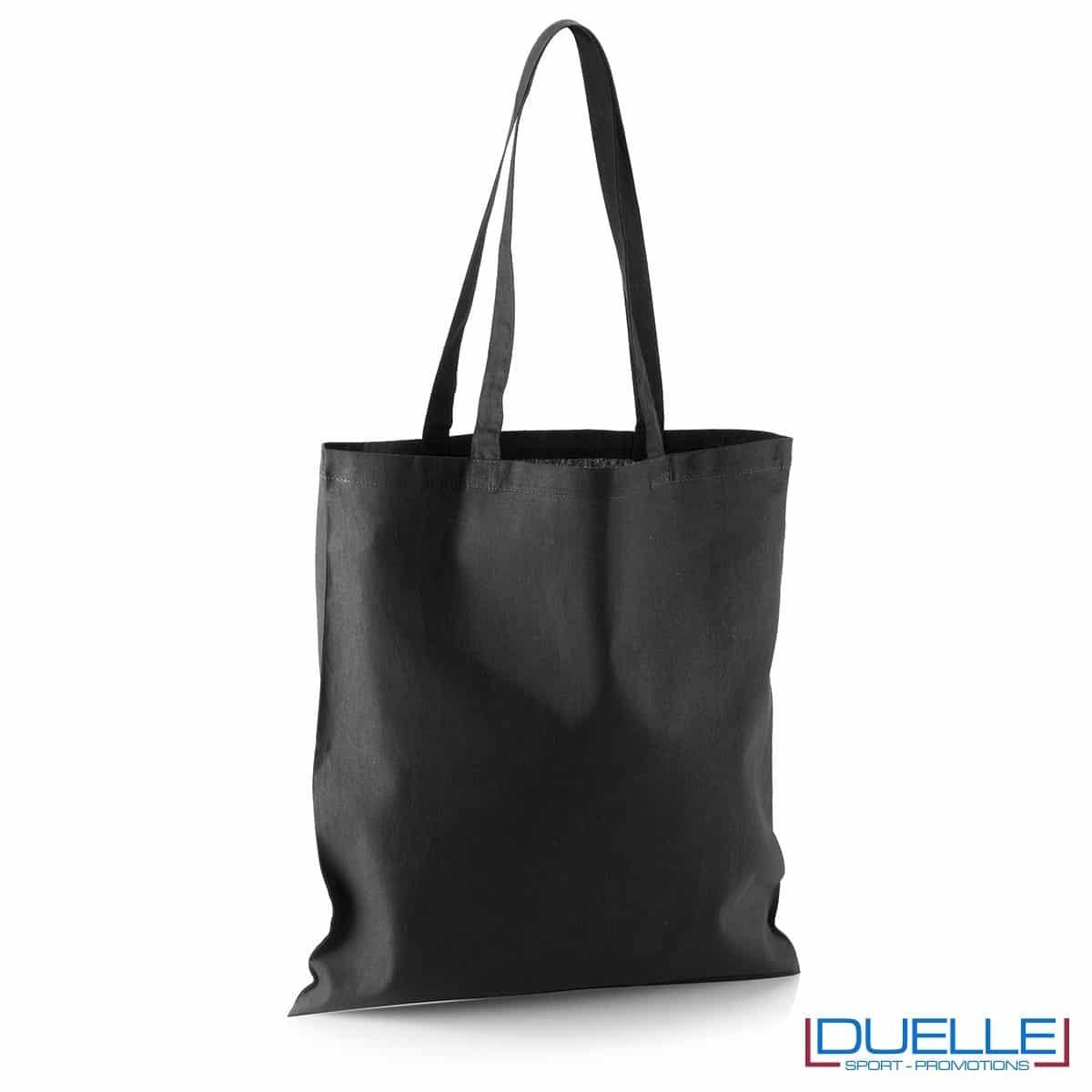 Shopper personalizzata in puro cotone nero