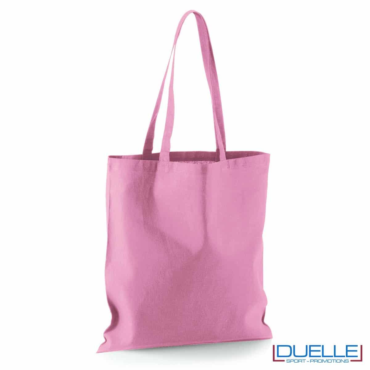 Shopper personalizzata in puro cotone rosa