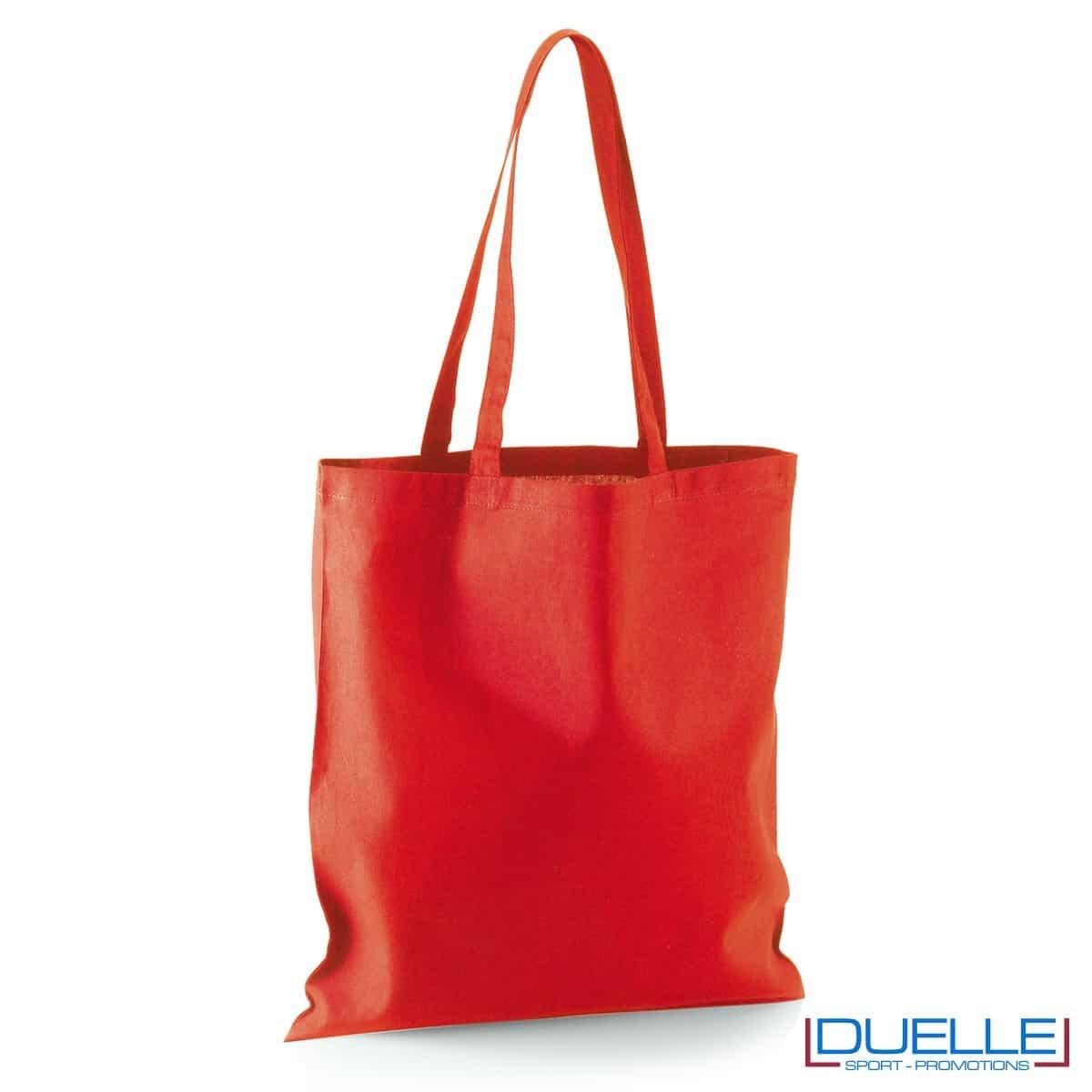 Shopper personalizzata in puro cotone rosso