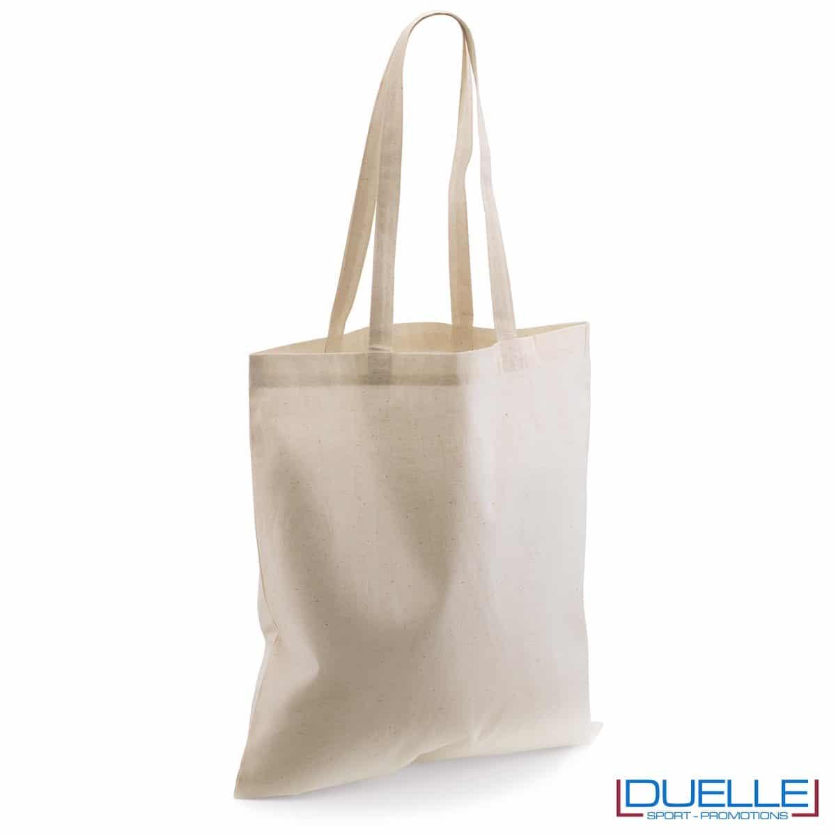 Shopper personalizzata in puro cotone naturale