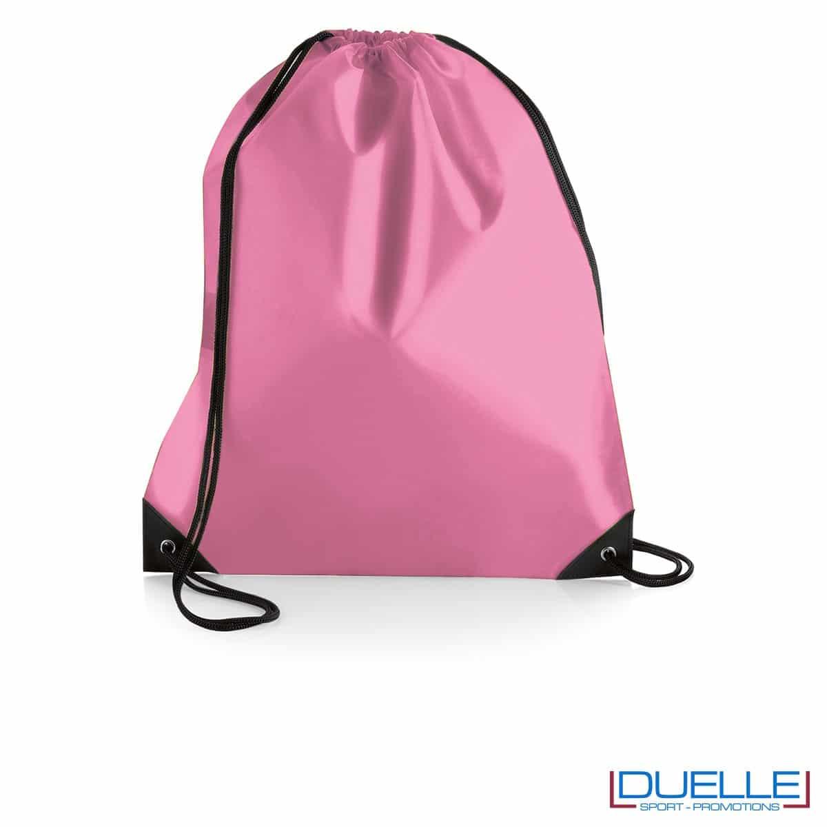 Zainetto impermeabile in nylon rosa