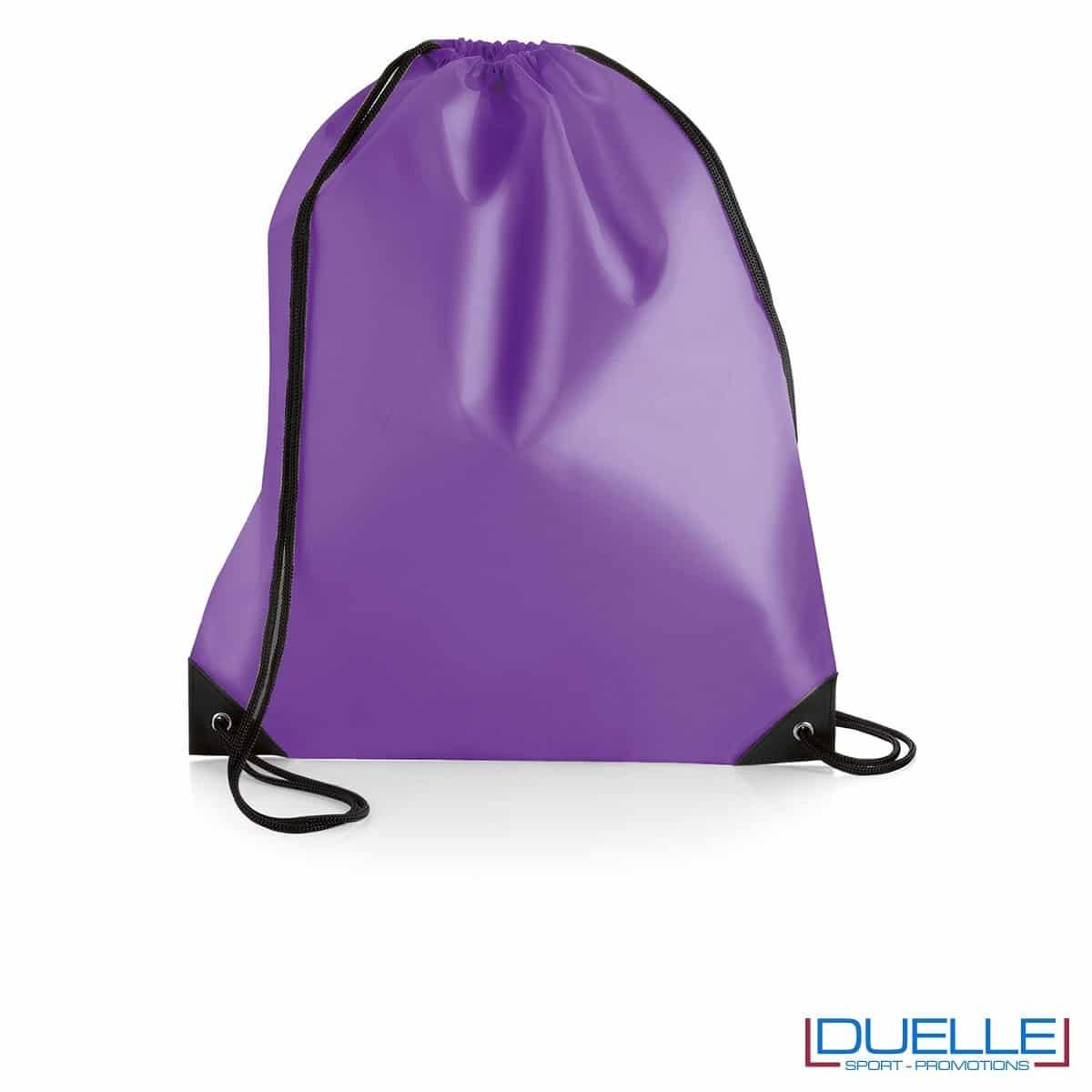 Zainetto impermeabile in nylon colore viola
