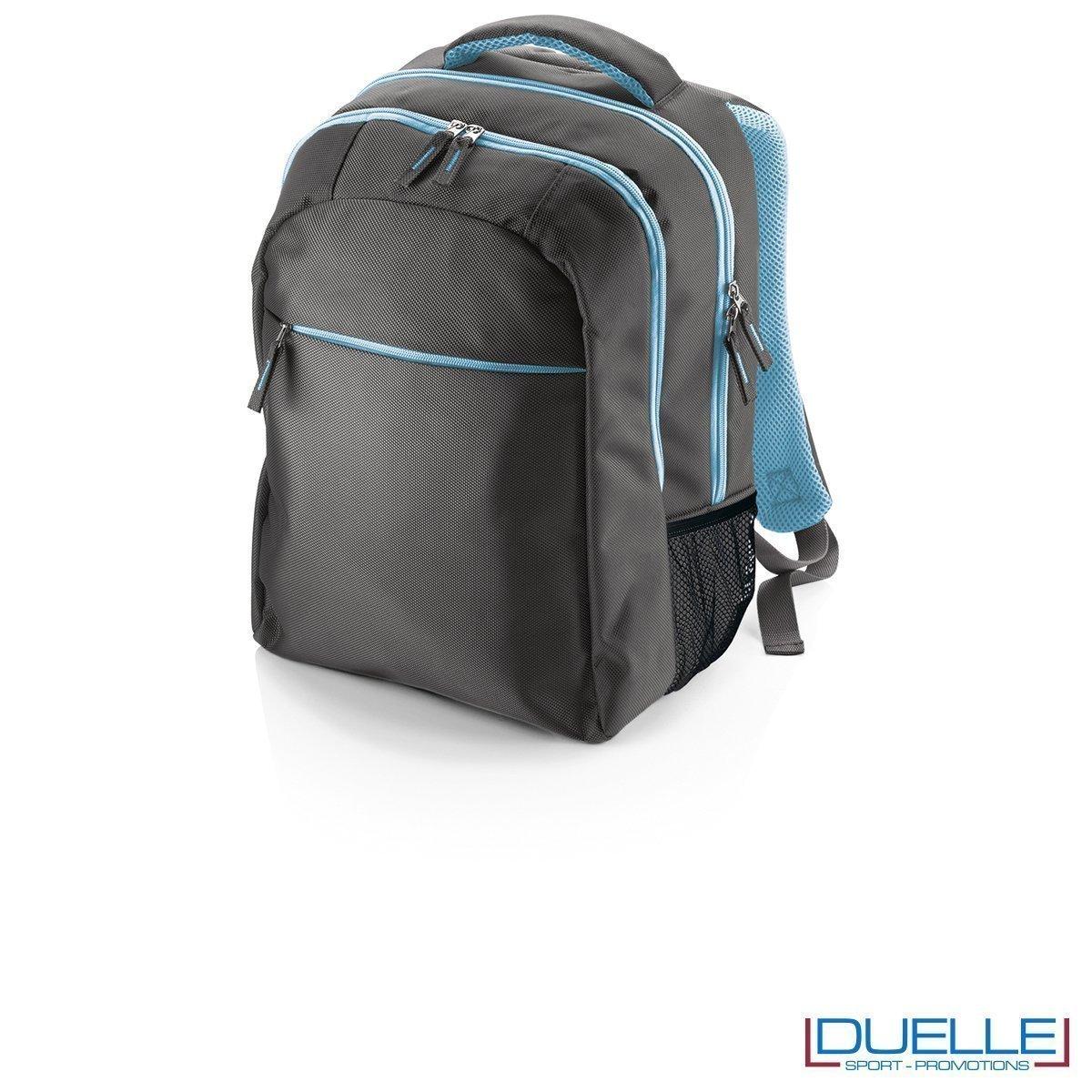 Zainetto personalizzabile porta pc azzurro